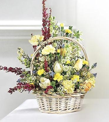 Deepest Sympathy Basket Arrangement
