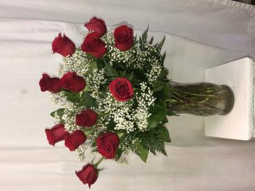 Long Stem Dozen Red Roses