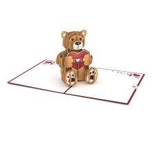 LovePop Love Bear 3D card