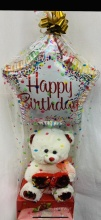 Birthday Plush and Balloon Gift Set